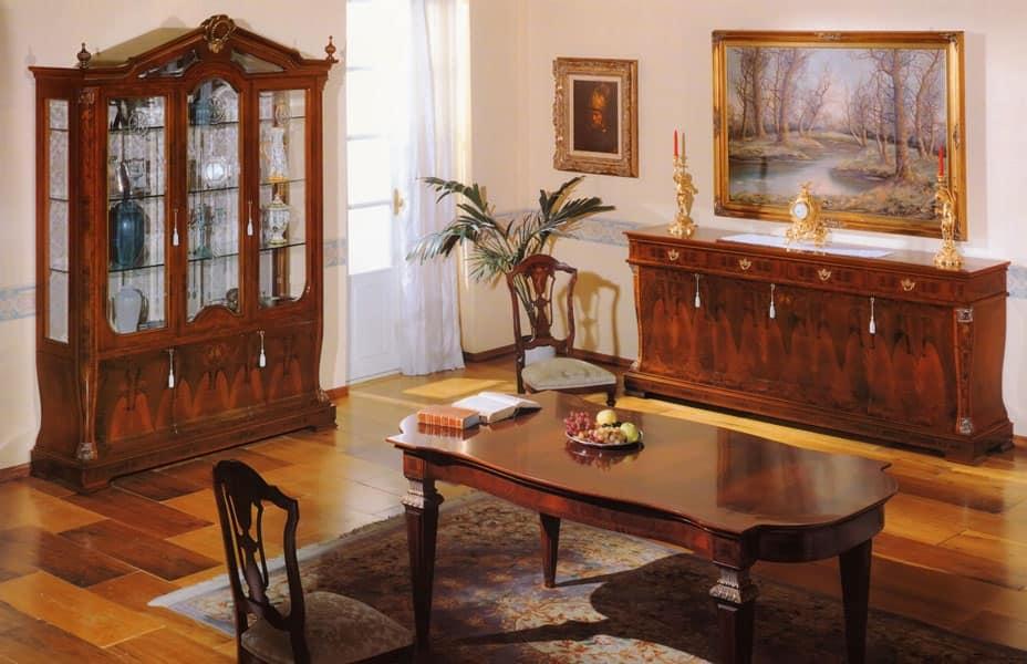 93 sedia sedie imbottite soggiorno idfdesign - Sala da pranzo classica ...