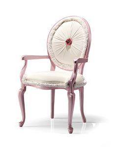 1032/A, Sedia capotavola rosa con swarovski
