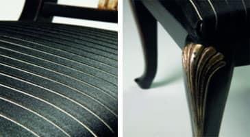 Art.139 sedia, Sedia classica in faggio, seduta imbottita con molle