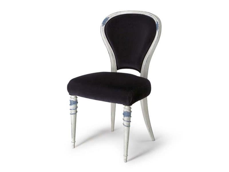 Art.188 sedia, Sedia per sala da pranzo con schienale imbottito
