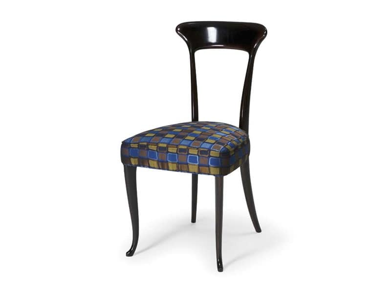 Sedie imbottite sala da pranzo : Sedia classica in faggio con seduta imbottita per ristoranti