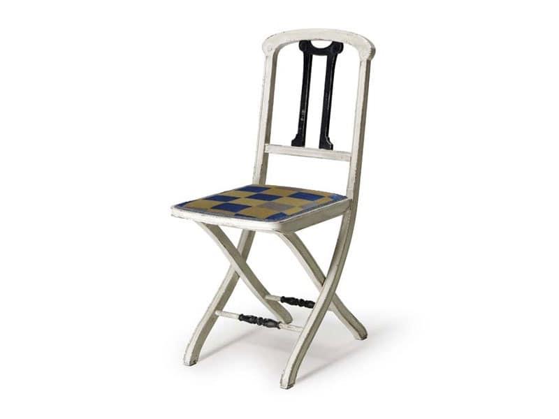Sedia pieghevole in legno, stile classico | IDFdesign