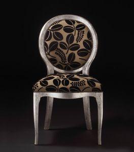 Art. 19928, Sedia in legno, con schienale tondo, stile classico