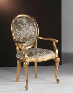 Art. 20325, Sedia oro, con schienale tondo