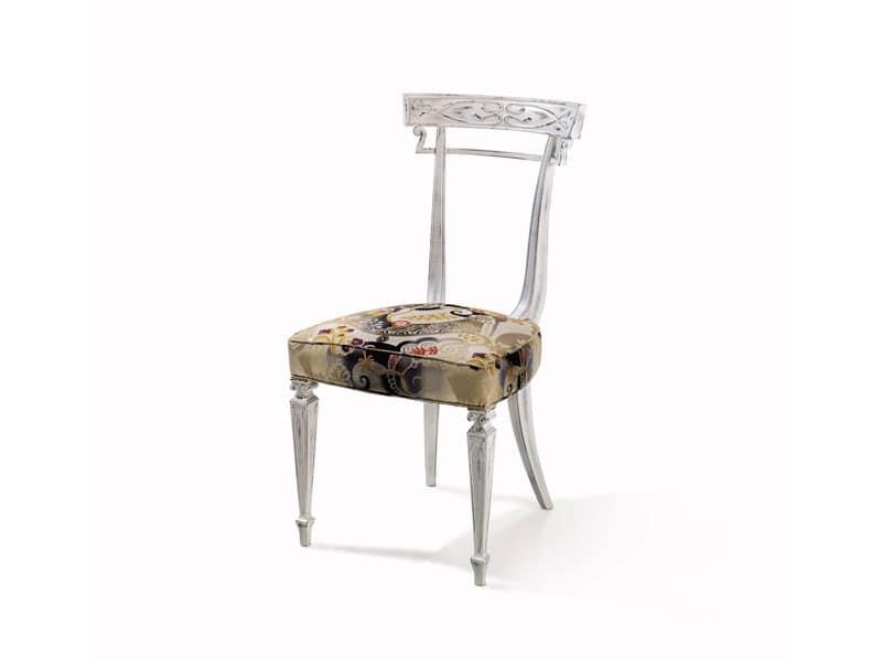 Art.244 sedia, Sedia in faggio, personalizzabile, stile classico di lusso