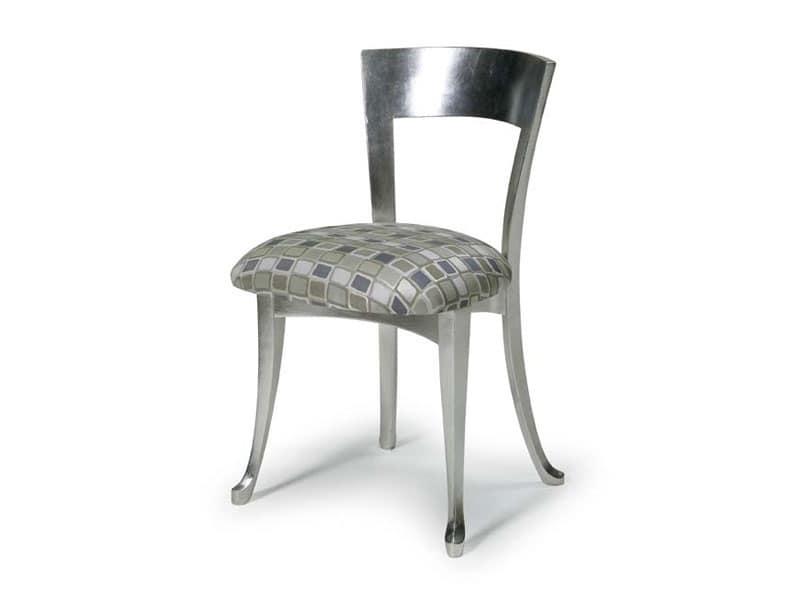 Art.446 sedia, Sedia in legno con sedile imbottito, stile classico