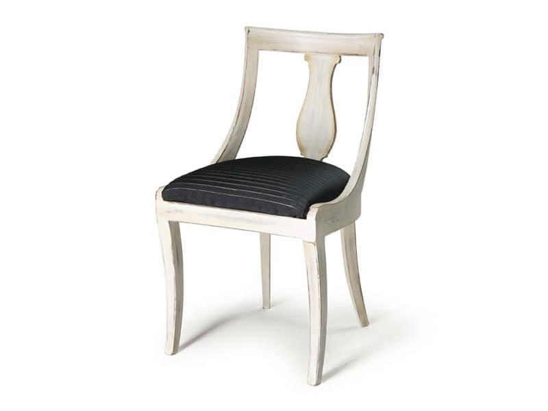Art.465 sedia, Sedia in legno per bar, ristoranti e hotel, stile classico