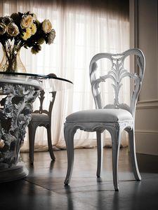Art. 5050, Sedia da pranzo, intagliata, in stile classico di lusso