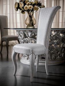 Art. 5091, Sedia da pranzo con schienale alto, elegante e raffinata