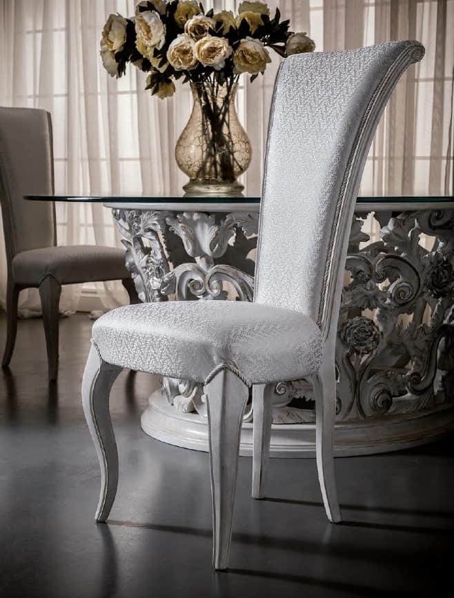 Sedia da pranzo con schienale alto, elegante e raffinata ...