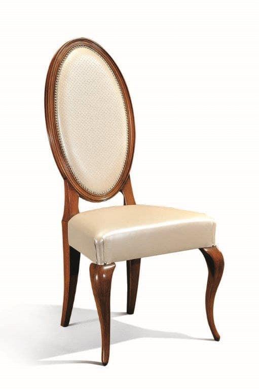 Art. 513s, Sedia in legno, con schienale ovale, per sale da pranzo