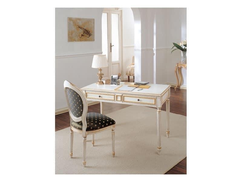 Sedia classica di lusso stile luigi xvi per soggiorno idfdesign