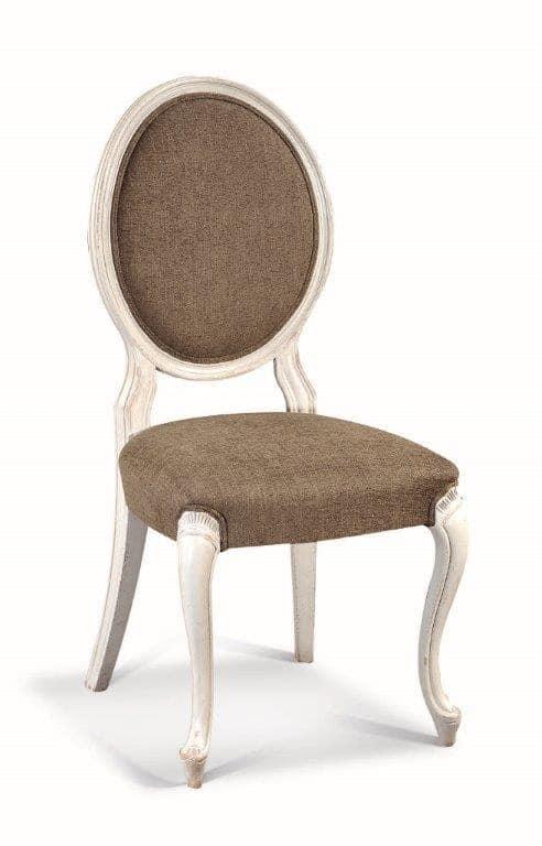 Art. 533s, Sedia con schienale ovale, con intagli e decorazioni