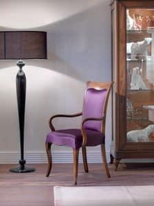 Art. CA121, Sedia con braccioli, per sala da pranzo