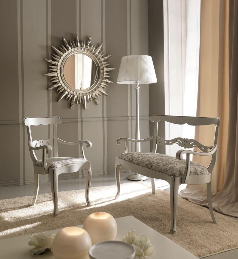 Sedia capotavola in legno dallo stile classico per sala for Sedie sala pranzo legno
