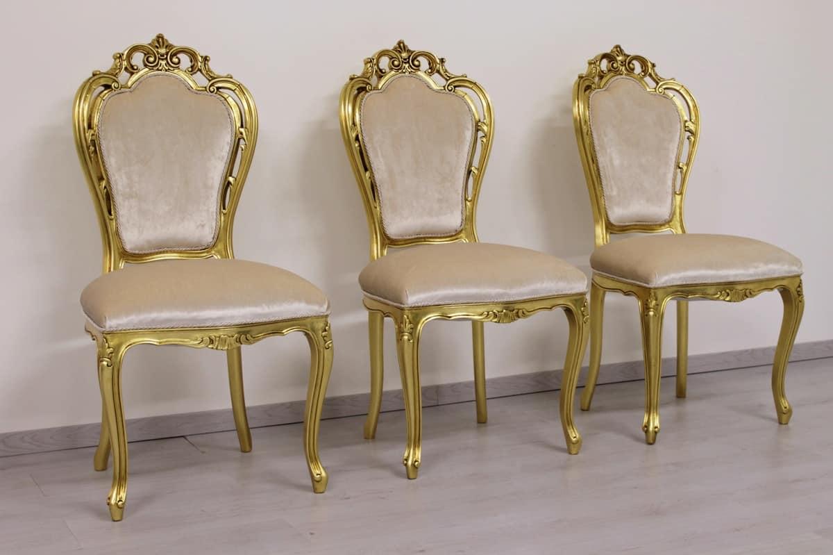 Sedia in stile barocco minimale con braccioli idfdesign for Sedie contemporanee