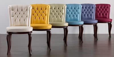 Sedia con schienale capitonn per sale da pranzo idfdesign for Sedie da pranzo design