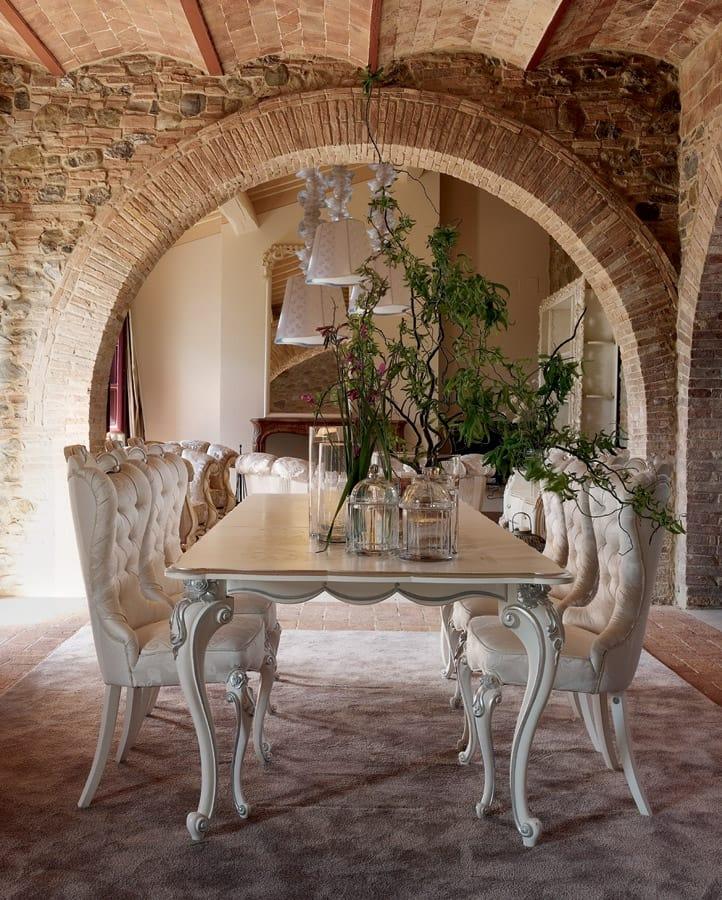 Carpi sedia, Sedia classica, con imbottitura capitonné