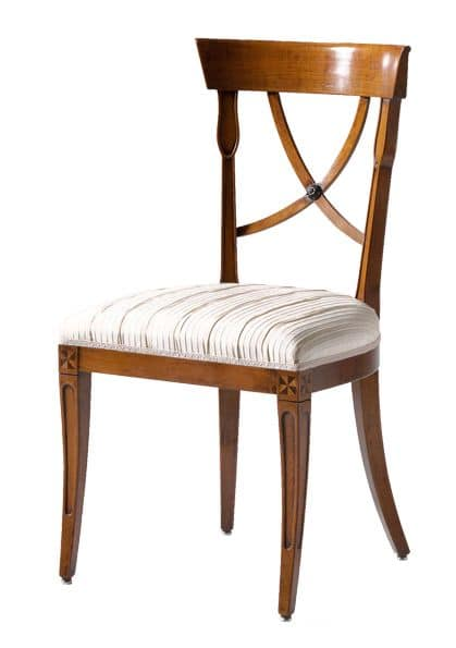 Sedie In Legno Ciliegio.Sedia In Ciliegio Con Seduta Imbottita Ideale Per Salotti In Stile