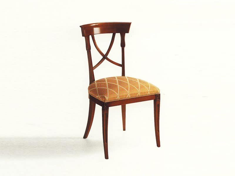 Sedia da pranzo, in stile, in legno, per Sala da pranzo ...