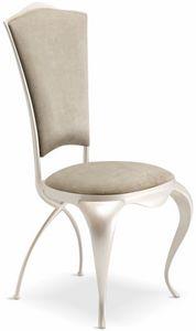 Ghirigori sedia imbottita, Elegante sedia da pranzo imbottita