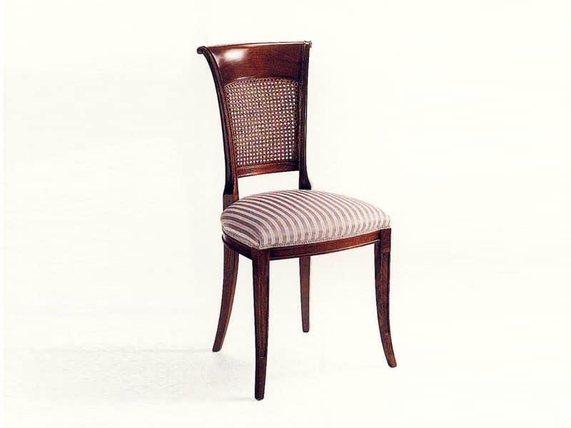 Sedie Classiche Imbottite Per Sala Da Pranzo.Sedia In Stile Classico Per Sala Da Pranzo Idfdesign