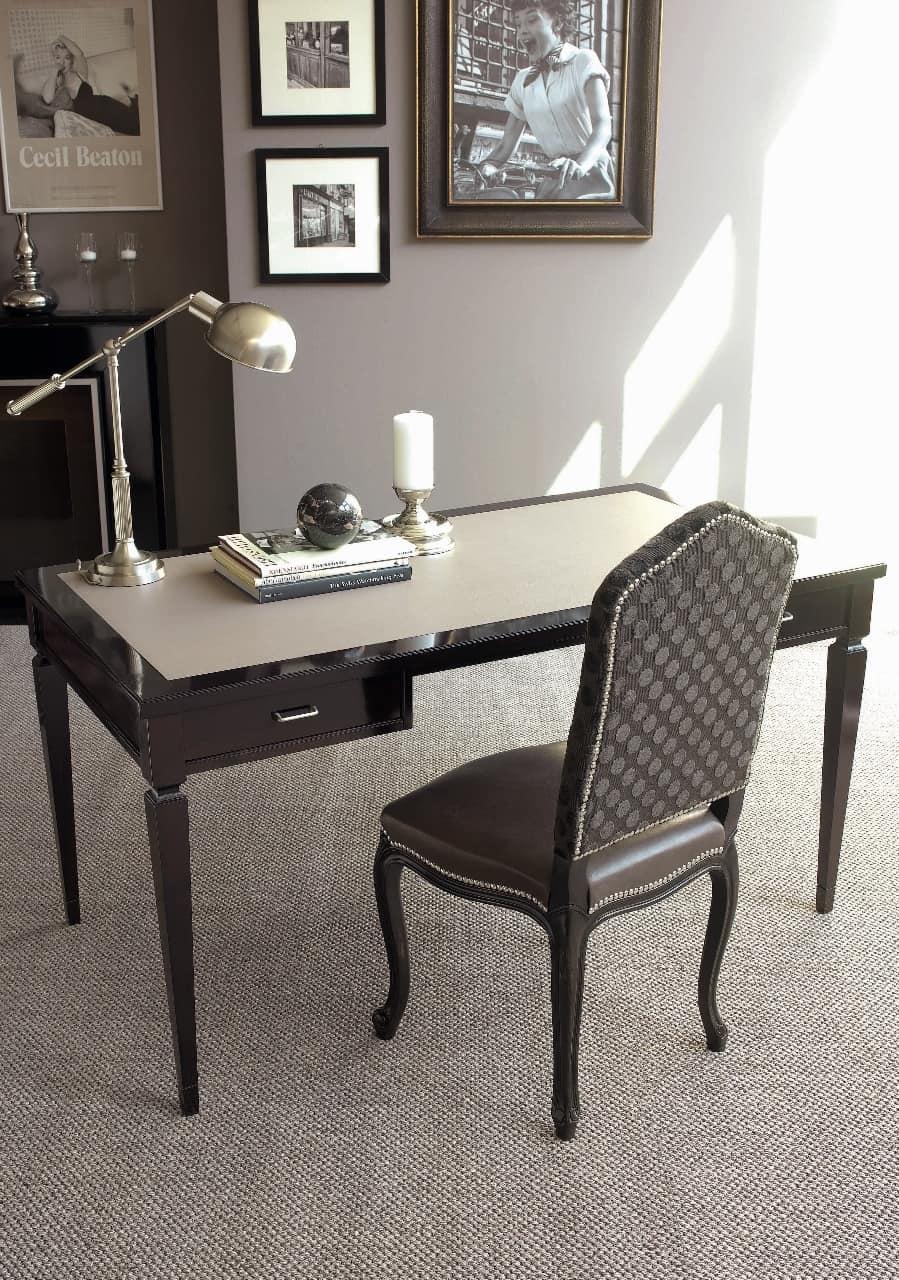 Sedia in faggio rivestimento misto con pelle e tessuto for Galimberti sedie