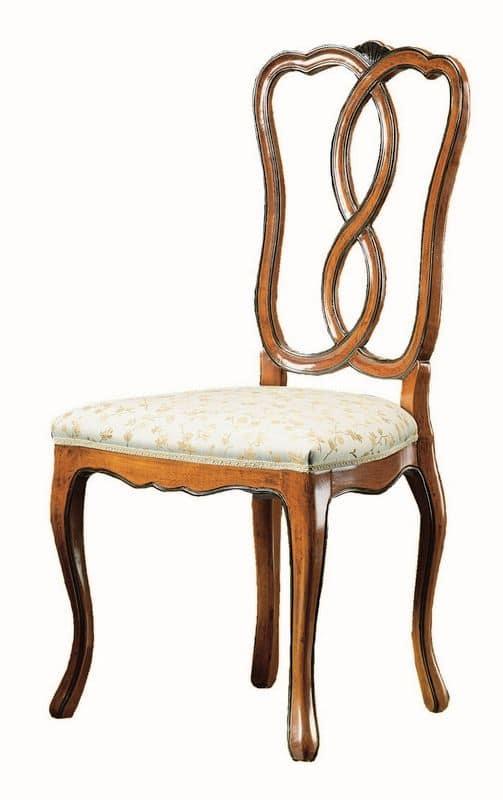 Sedia in noce in stile 39 800 per sale da pranzo classiche for Sedie classiche