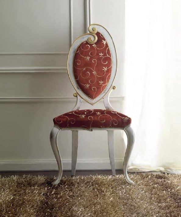 Sedia elegantemente decorata a mano per sala da pranzo for Sedie decorate a mano