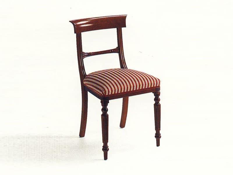 Sedie in stile classico per soggiorno lussuoso idfdesign - Sedie in legno design ...
