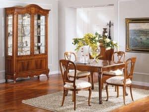 OLIMPIA B / Sedia, Sedia in legno, seduta imbottita, per Salotto di lusso