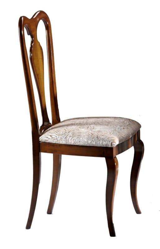 Sedia in noce con schienale in legno, per sala da pranzo   IDFdesign