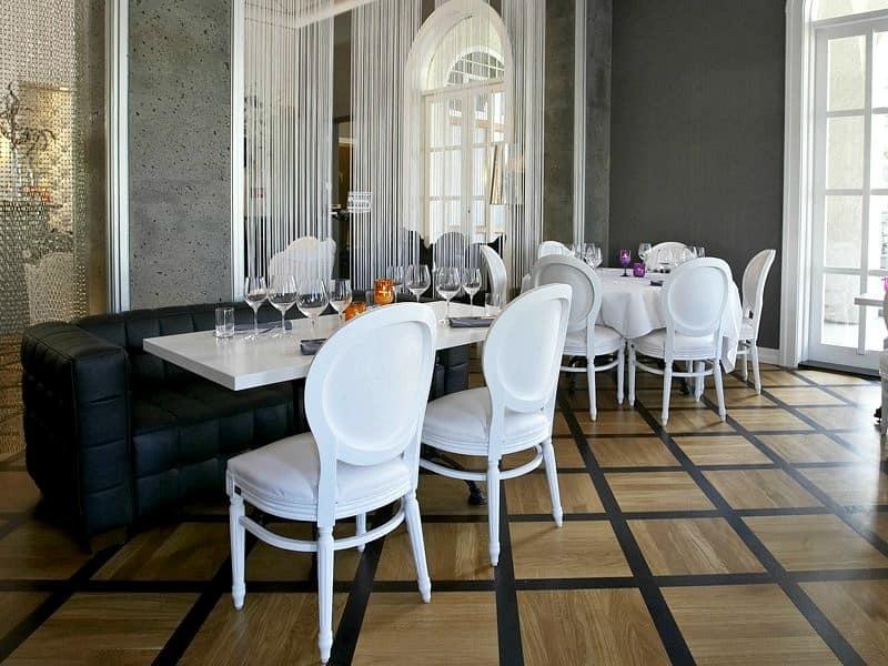 Sedia classica imbottita per sale da pranzo e ristoranti di lusso idfdesign - Sale da pranzo moderne ...