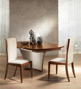 SE52 Galileo sedia, Sedia in frassino tinto, in stile classico contemporaneo