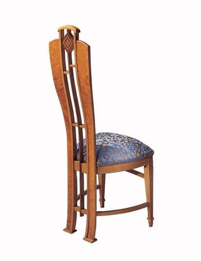 SE25 sedia, Sedia classica di lusso, placcata in radica, linea anatomica