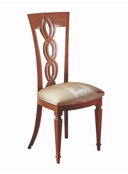 Sedia in legno schienale a treccia per sala da pranzo for Sedie di design 2017