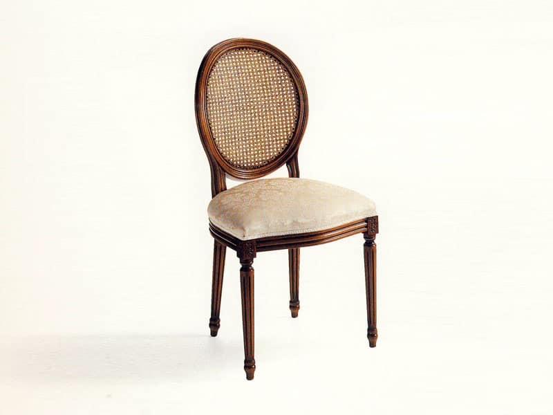 Sedia imbottita classica schienale in paglia di vienna - Sedie per sala pranzo ...