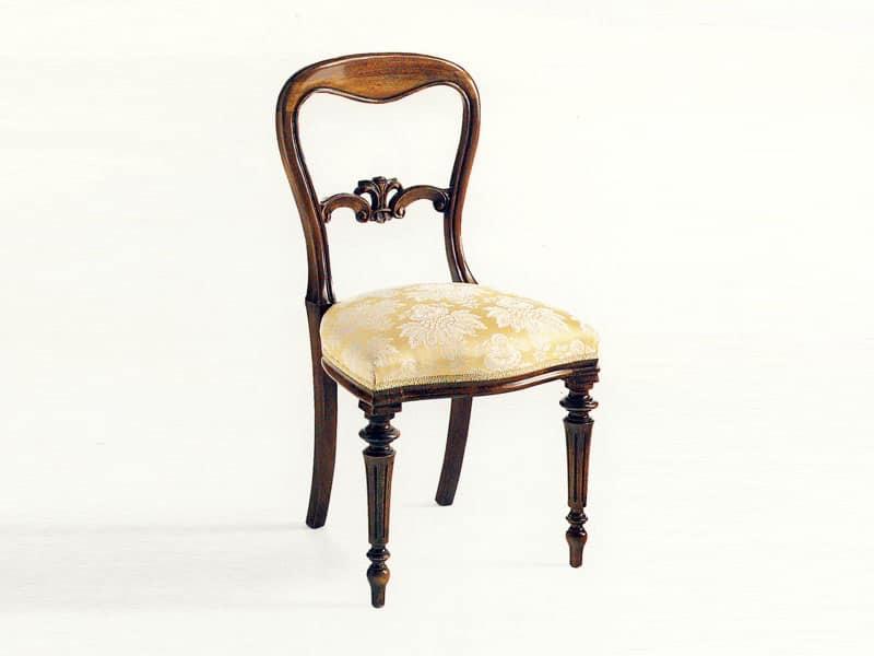 Sedia da pranzo classica di lusso seduta imbottita - Sedie per sala pranzo ...