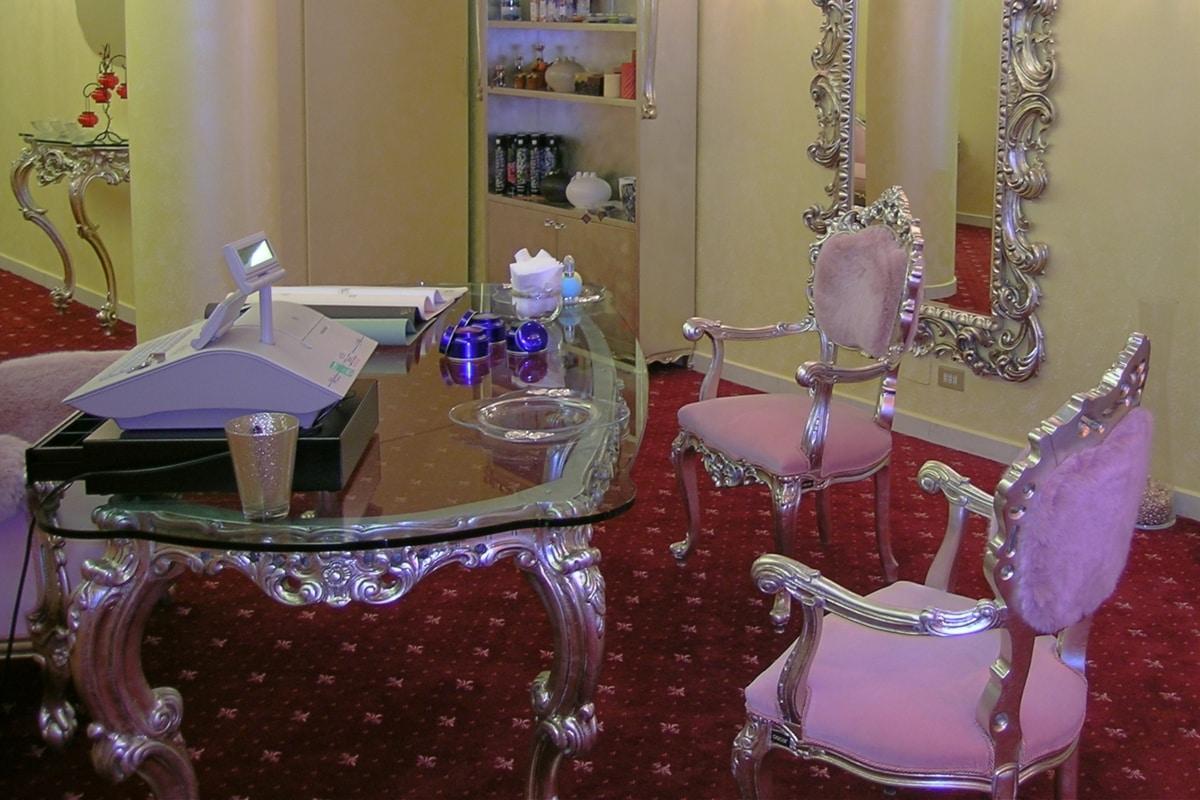 Venezia argento, Sedia barocco glamour