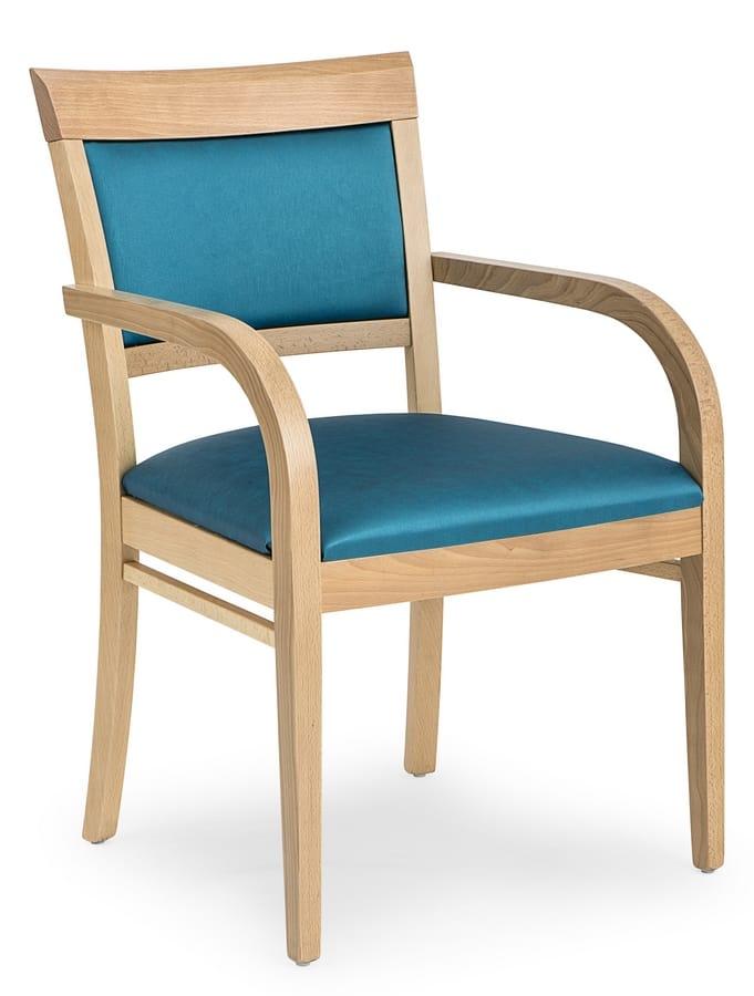 Comoda sedia imbottita, con braccioli | IDFdesign