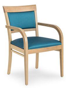 Anna XL ARMS, Comoda sedia imbottita, con braccioli