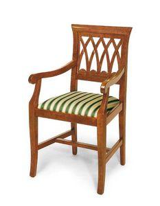 Art. 119/A, Sedia classica, con seduta imbottita e braccioli