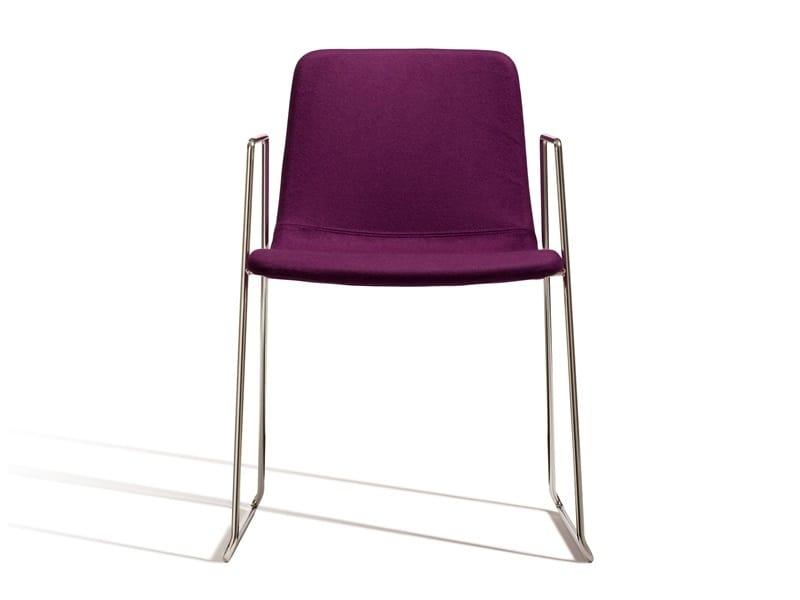 Ics 506VBZ, Sedia con braccioli, impilabile in metallo