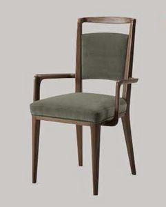 Mil� sedia con braccioli, Sedia in legno con braccioli, per soggiorno