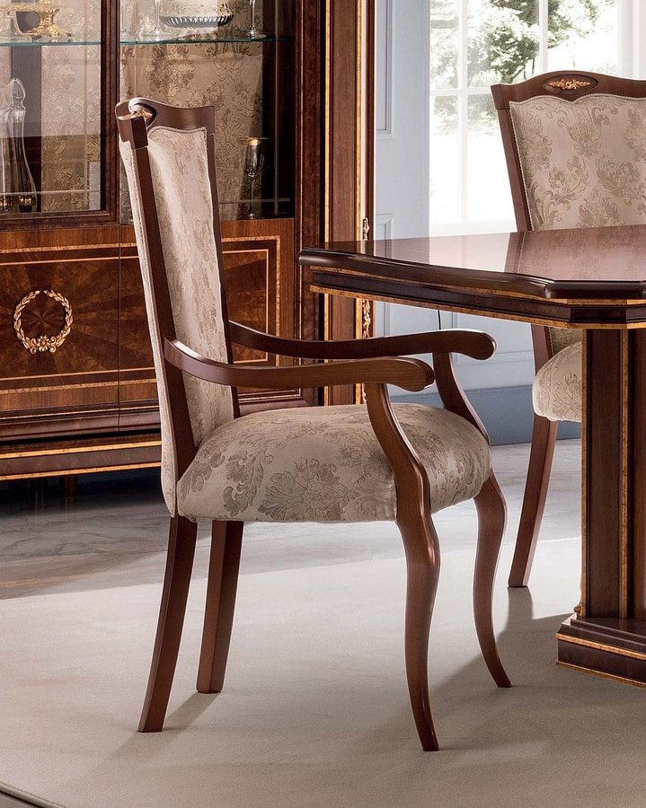 Modigliani sedia con braccioli, Sedia capotavola per sala da pranzo