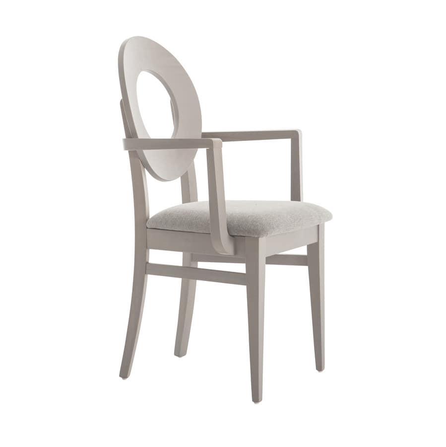 Sedia con schienale rotondo con foro centrale | IDFdesign
