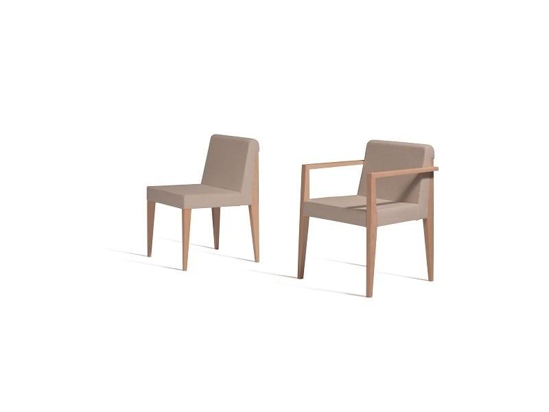 New York 631N, Sedia con braccioli, con sedile e schienale imbottiti