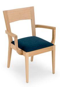 Nico ARMS, Sedia in legno con braccioli