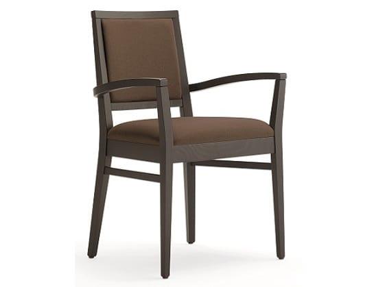 Sedie In Legno Con Braccioli : Sedia in legno con braccioli imbottita idfdesign