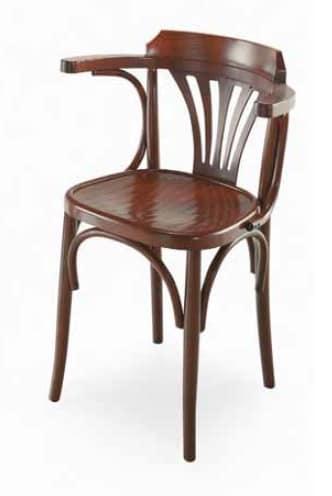 Sedia in legno con braccioli, stile viennese | IDFdesign